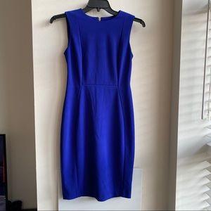 CALVIN KLEIN shapphire blue dress